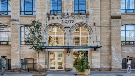 Trinity Bellwoods – Candy Factory Lofts, Suite 418